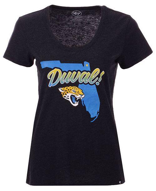 '47 Brand Women's Jacksonville Jaguars Scoop Neck Duval T-Shirt