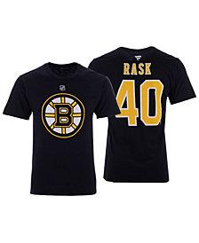 Majestic Men's Tuukka Rask Boston Bruins Authentic Stack Name & Number T-Shirt