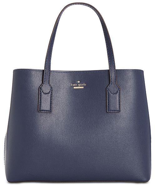 kate spade new york Hadley Road Small Dina Leather Satchel - Handbags    Accessories - Macy s 014b79afbd