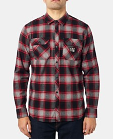 Fox Men's Traildust Yarn-Dyed Plaid Brushed Twill Flannel Shirt