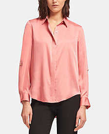 DKNY Roll-Tab Blouse, Created for Macy's