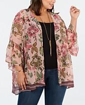 f7bbcbc1ee1 Style   Co Plus Size Printed Kimono