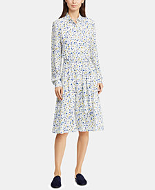 Lauren Ralph Lauren Petite Fit & Flare Shirtdress