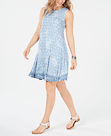 Style & Co Petite Print Swing Dress