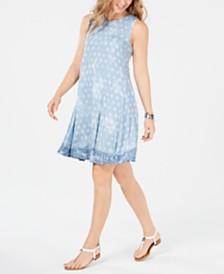 Style & Co Petite Print Swing Dress