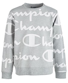 Champion Big Boys Script-Print Sweatshirt