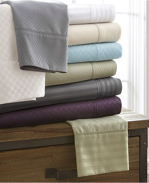 ienjoy Home Expressed In Embossed by The Home Collection 4 Piece Bed Sheet Sets