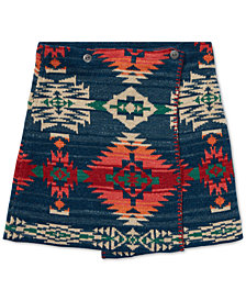 Polo Ralph Lauren Big Girls Reversible Jacquard Cotton Wrap Skirt