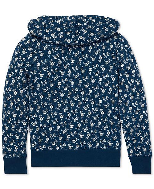 d42efeaab932f Polo Ralph Lauren Big Girls Floral-Print Cotton Hoodie   Reviews ...
