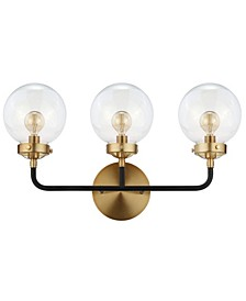 Caleb 3-Light Brass Wall Sconce