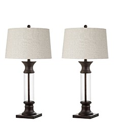 Hunter Metal or Glass Led Table Lamp, Set Of 2