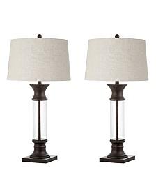 JONATHAN Y Hunter Metal or Glass Led Table Lamp, Set Of 2