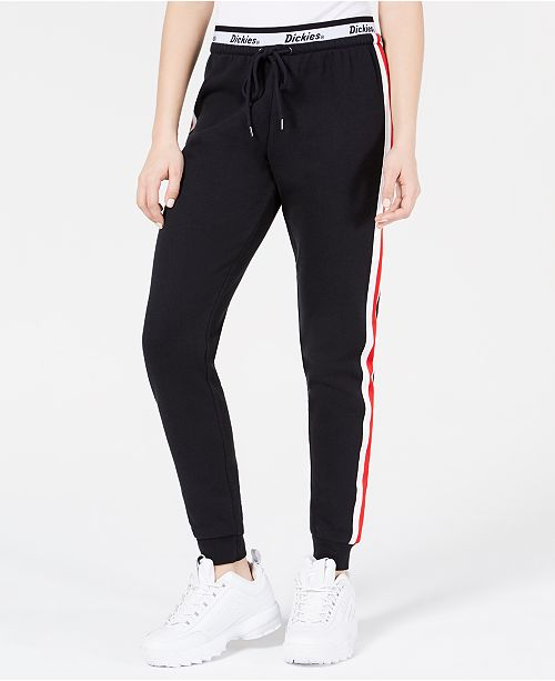 Dickies Varsity-Striped Logo Jogger Pants