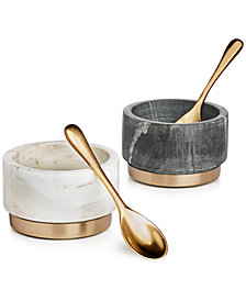 Hotel Collection Modern Marble Condiment Bowls, Set of 2, Created for Macy's