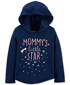 Carter's Toddler Girls Graphic-Print Hooded Cotton T-Shirt