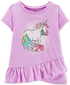 Carter's Little Girls Unicorn Graphic Cotton T-Shirt