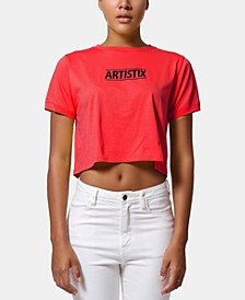 Cotton Logo Graphic Cropped Top