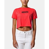 Artistix Cotton Logo Graphic Cropped Top