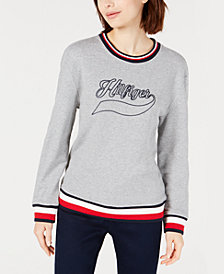 Tommy Hilfiger Vintage-Inspired French Terry Top, Created for Macy's