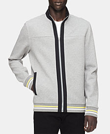 Calvin Klein Men's Full-Zip Striped Sweater