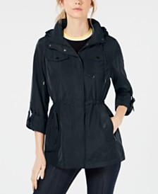 MICHAEL Michael Kors Hooded Cinch-Waist Anorak Jacket
