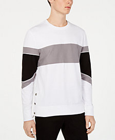 I.N.C. Men's Long-Sleeve Colorblocked T-Shirt, Created for Macy's