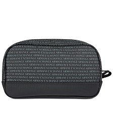 Armani Exchange Mens Logo Cosmetic Case