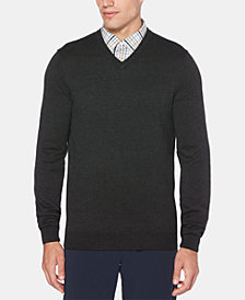 Perry Ellis Men's V-Neck Long-Sleeve Sweater