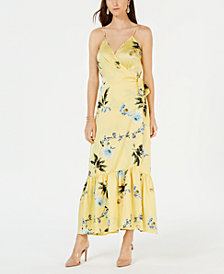 I.N.C. Petite Ruffle-Hem Wrap Dress, Created for Macy's