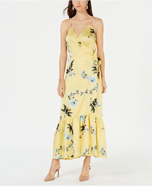 7d9b5d4039f ... INC International Concepts I.N.C. Ruffle-Hem Wrap Dress