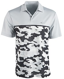 Attack Life by Greg Norman Mens Colorblocked Camo Polo