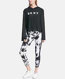DKNY Sport City Spray High-Waist Ankle Leggings, Created for Macy's