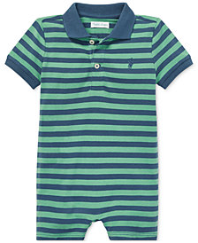 Polo Ralph Lauren Baby Boys Featherweight Striped Mesh Cotton Shortall