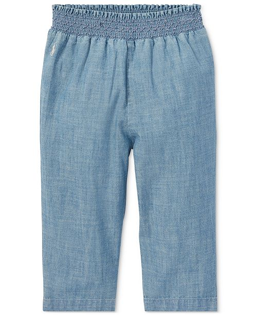 959aae11682e Polo Ralph Lauren Baby Girls Cotton Chambray Pull-On Pants   Reviews ...