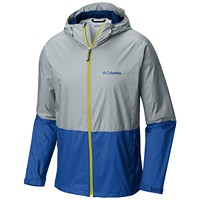 Deals on Columbia Mens Roan Mountain Colorblocked Rain Jacket