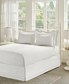 Madison Park Essentials Ruffled Queen Bedskirt And Shams Set