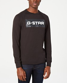G-Star Raw Mens Block Logo Graphic T-Shirt, Created for Macy's