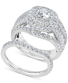 Diamond Raised Halo Bridal Set (2-1/2 ct. t.w.) in 14k White Gold
