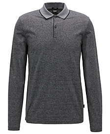 BOSS Men's Slim Fit Long-Sleeve Cotton Polo