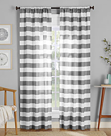 "Lichtenberg No. 918 Glendale Stripe Semi-Sheer Rod Pocket Curtain Panel, 40"" W x 95"" L"