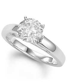 Diamond Solitaire Engagement Ring (2 ct. t.w.) in 14k White Gold