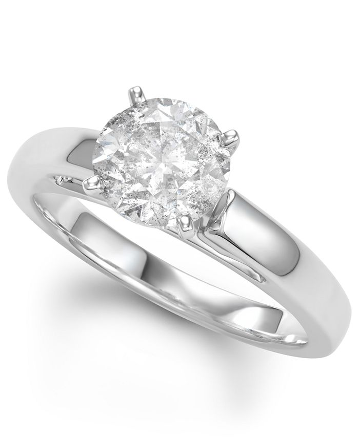 Macy's - Diamond Solitaire Engagement Ring (2 ct. t.w.) in 14k White Gold