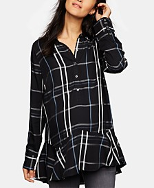 A Pea In The Pod Maternity Plaid Tunic