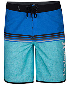 "Hurley Men's Phantom Surfside Colorblocked Ombré Stripe 20"" Board Shorts"