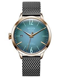 WELDER Women's Gunmetal Stainless Steel Mesh Bracelet Watch 38mm