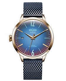 WELDER Women's Blue Stainless Steel Mesh Bracelet Watch 38mm