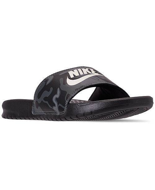 7e6d9eafd Nike Men s Benassi Just Do It Print Slide Sandals from Finish Line ...