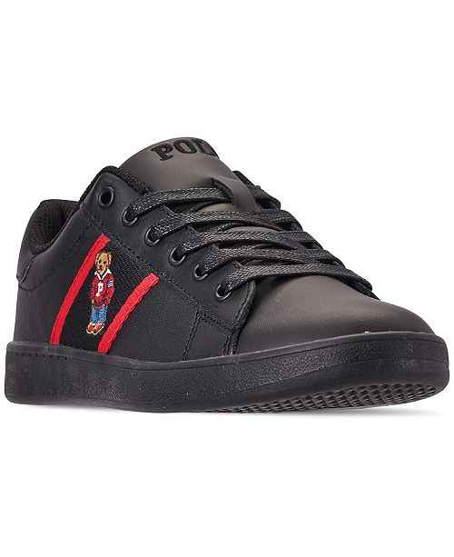 df1c551be9dec ... Polo Ralph Lauren Boys  Quilton Bear Casual Sneakers from Finish ...