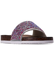 Steve Madden Little Girls' Shine On Slide Sandals from Finish Line