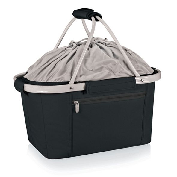 Picnic Time Oniva® by Metro Black Basket Collapsible Cooler Tote